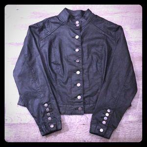 Torrid black coated jean jacket